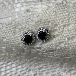 Jewelry - SAPPHIRE IN STERLING SILVER STUD EARRINGS